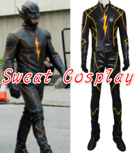 High Quality The Flash season 3 The Flashpoint adult leather black flash costume BlackRacer costume Halloween Cosplay Costume(China)