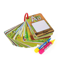 A-Z 26 alphabet water painting card book Children water drawing board children colouring book card book Educational toys(China)