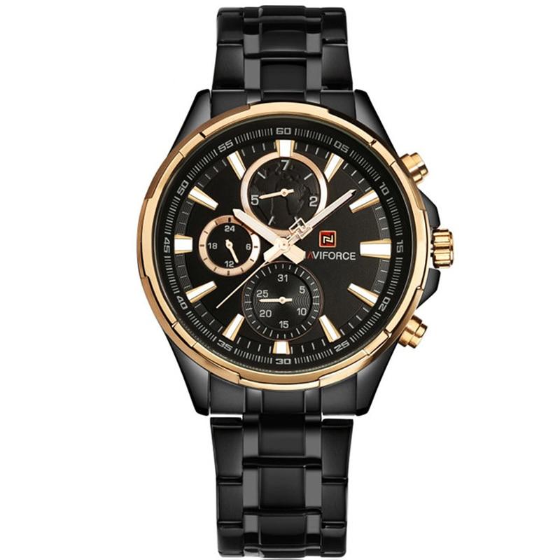NAVIFORCE Men Luxury Brand Full Steel Army Military Watches Men Quartz Hour Clock Watch Sport Watch Chronograp Relogio Masculino<br>