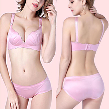 Fashion Women High Quality 5Colors Bra Shell Push Up Adjustable Wire Free One Piece Seamless Female Bras underwear(China)