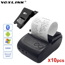 10pcs/lot Bluetooth thermal printer VOXLINK 58mm Mini Portable Wireless Receipt Thermal Printer for IOS Android PC Tablet DHL