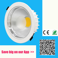 Dimmable 9w 12w 15w 20w COB led down light 85-265v led spot recessed ceiling lamp dimmable led ceiling downlight COB Led Lamp(China)