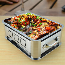new style Outdoor stainless steel charcoal grill pan Hiking camping Charcoal Grill Picnic BBQ Grill for Barbecue