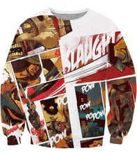Fashion Vintage Comic Anime Style 3D Sweatshirt Jumper Sexy Female Cowboy Hoodies Pullovers Women/Men Autumn Casual Outerwear