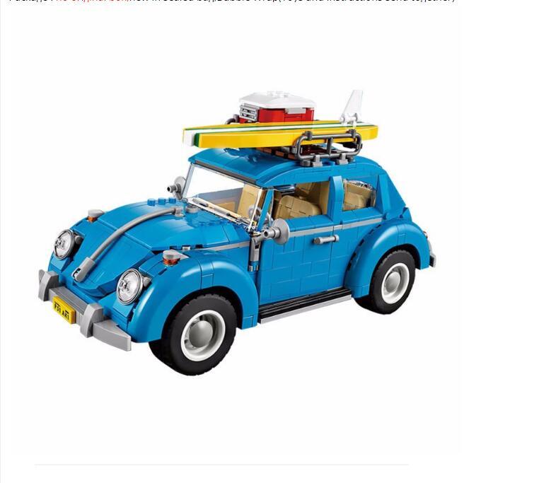 Compatible Technic 10252 Lepin 21003 1193pcs Creator Series City Car Beetle building blocks Bricks toys for children<br>
