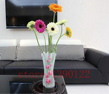 3pcs/Lot plastic vase Eco-friendly Foldable Folding Flower PVC Durable Vase Home Wedding Party Easy to Store