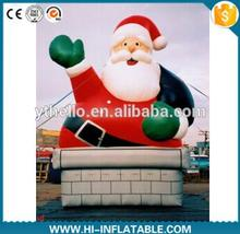 air-blown inflatable chimney santa claus for backyard decoration