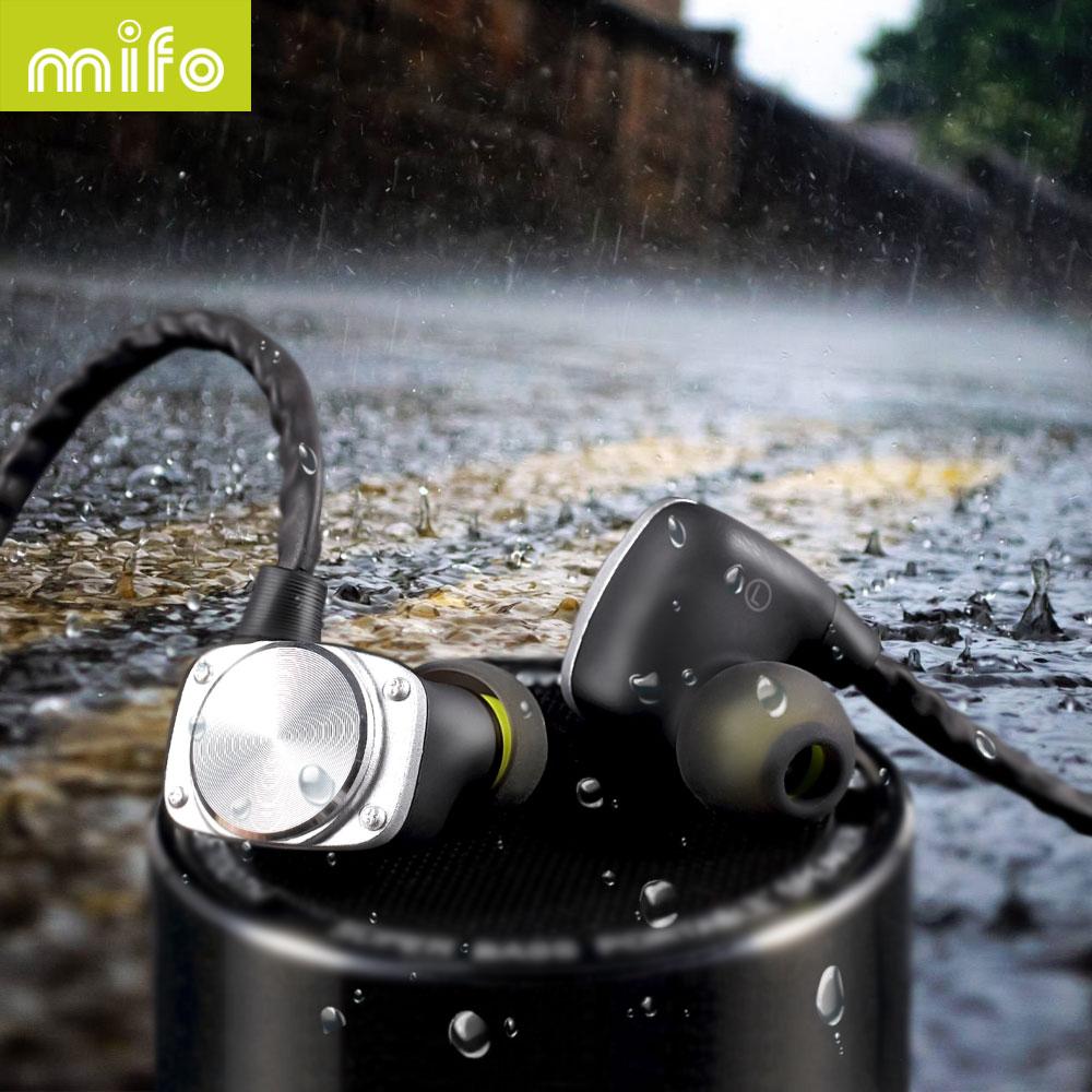 Mifo U6   Waterproof Sport Headphones Bluetooth Headset Noise Cancelling ear hook Earphone for Iphone Huawei Xiaomi smartphone<br>