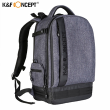 K&F CONCEPT Fashion Multifunctional Bag Waterproof Camera Photo Backpack Big Size Laptop Bags For Canon Nikon Sony Fujifilm SLR(China)