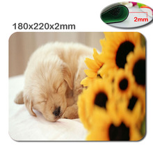 Animal dog 180mmx220mmx2mm Custom HD 3D fast print Gaming Mouse Mat High Quality Durable Fashion Computer and Laptop Mouse Pad(China)
