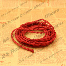 Red Color - 5m/lot 2x0.75 Vintage rope Wire Twisted Cable Retro Braided Electrical Wire Fabric Wire DIY Pendant Lamp Wire Lamp(China)