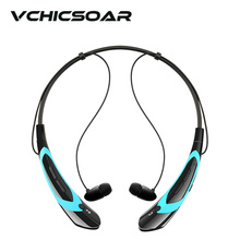VCHICSOAR Fashion Wireless Bluetooth Headset V4.0 Neckband In-Ear Headphones Stereo Earphones with Mic for LG iPhone Sony xiaomi