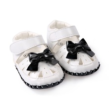 2017 Baby Girls Summer Beach Toddler Fashion Hollow Out Breathable Bowknot  skid proof Stripe Kids Leisure high quality Sandals
