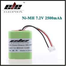 New Eleoption 2.5Ah 2500mAh Ni-MH 7.2V Rechargeable Battery for iRobot Roomba Braava 380 380T 7.2Volt