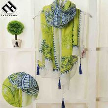 2018 New Fashion Bohemian Style Scarf Women Warm Tassel Shawl and Scaves Wrap bufandas cachecol feminino Voile Scarf(China)
