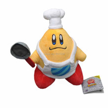 "Free Shipping KIRBY 8"" Jumbo Cooks White Cap Plush Doll Stuffed Toy"