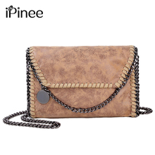 iPinee Famous Designer Brand Bags Women Evening Clutch Bags Female Small Chain Shoulder Messenger Bags PU Leather Party Handbag(China)