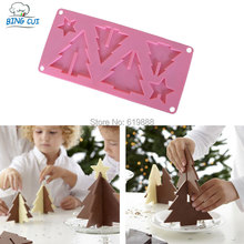 3D Christmas Tree Shape Chocolate Cake Silicone Mold Cake Decoration Tools Bakeware N0406(China)