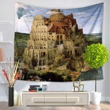 Hot Mandala Tapestry Wall Hanging Retro Architecture 3D Print Tapestry 200X150cm Rectangular Decor Wall Hanging Table Cloth