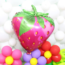5pcs 72*58cm Strawberry fruit shape balloon cartoon foil balloons festival birthday party decoration supplies inflate ball toys(China)