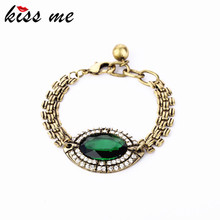 Fashion  accessories Imitation emerald vintage bracelet brief Factory Wholesale