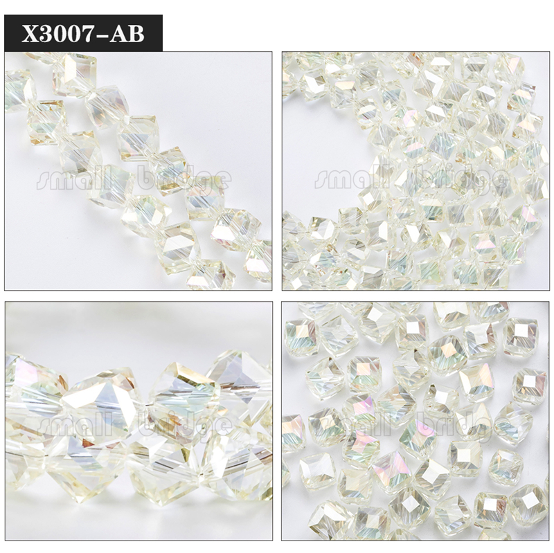Square Glass Beads (8)