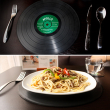 2pcs Vinyl Record Silicone Big Size Dining Tables Mats Table Placemat Coaster Durable Round Non-Slip Heat Resistant Mat Coaster