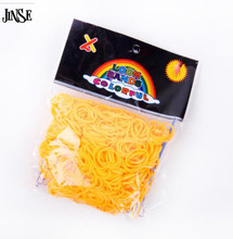 JINSE DIY Silicone Loom Bands Orange Rubber Loom Bands Refills Used To Make Bracelet 600 Loom Bands+24 S-Clips LBD015-C(China)
