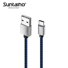 Suntaiho USB TYPE C кабель для samsung galaxy s9 s8 usb c cable data cord для Oneplus 5 т XiaoMi F1 mi6 1 2 м 3 м Быстрая зарядка кабель(China)