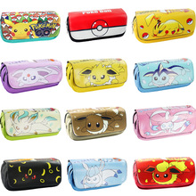 Cartoon anime stationary Pokeball Pikachu Eevee Vaporeon Flareon kid bag / pencil case/Pen pocket for children Gifts