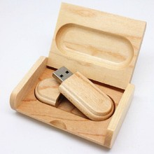 Real 100% Hot Sale Wooden 4GB 8GB 16GB 32GB 64GB  USB flash drive pen drives Maple wood+Packing box memory stick gift