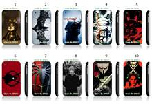 Cool Style Famous Hero White Hard Plastic Case Cover for iPhone 3 3GS