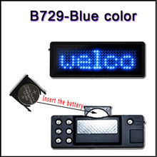 B729B blue color Scrolling led name tag LED display screen business card led badges led panels Signs(China)