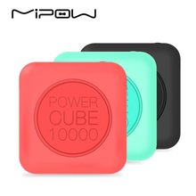 MIPOW 10000mAh Power Bank, Portable Battery, Double USB Charger, 2.4A Fast Charge for iPhone7 iPod iPad Apple iOS Andriod Xiaomi(China)
