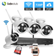 4Channel CCTV System 720P HDMI NVR 4PCS 1.0MP 720P IR Outdoor P2P Wireless IP CCTV Camera Security System video Surveillance Kit(China)