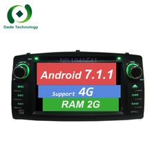Two din Android 7.1.1 2 din car dvd player for TOYOTA Corolla E120 e 120 BYD F3 Capacitive screen WIFI 3G/4G dvd GPS Car radio(China)