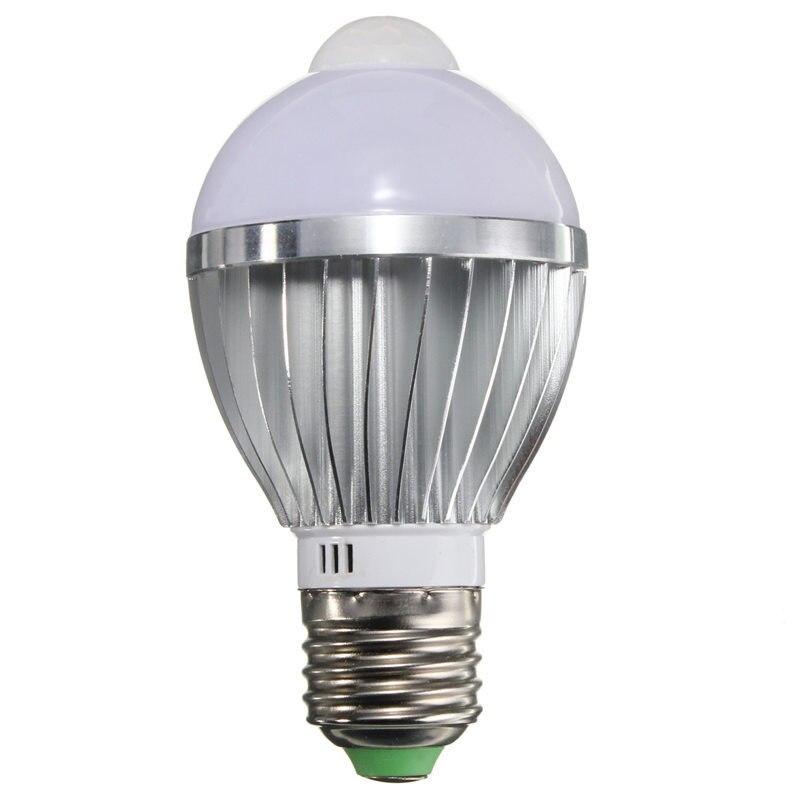 Hot Sale E27 5W Auto PIR Infrared Motion Sensor Detection White Warm White 5730 SMD LED Bulb Lamp Lights 85-265V<br><br>Aliexpress