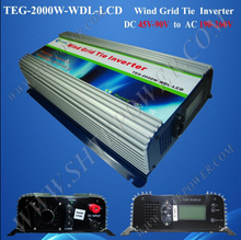 User friendly on grid 2000w wind generator inverter for 220v to340v country