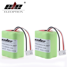ELEOPTION 2x 7.2Volt New Eleoption 2.5Ah 2500mAh Ni-MH 7.2V Rechargeable Battery for iRobot Roomba Braava 380 380T High Quality(China)