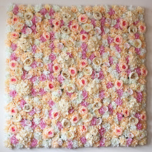 40X60cm Artificial Silk Rose Flower Wall Decoration Decorative Silk Hydrangea Wedding Decoration Backdrop factory wholesale(China)