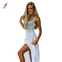 Buy 2017 Sexy dress Women Dress Boho Dresses Long female vestidos mujer Sleeveless Party Prom Lace Summer Beach Maxi dresses for $11.24 in AliExpress store