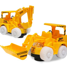 Omni Direction Toy Excavator Bulldozer With Shinning Lighting Wheel Front Toy Truck With Removable Digging Bucket