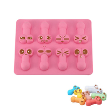 Buy Silicone Dick Ice Cube Tools Novelty Gag Gift Penis Funny Sexy Chocolate Tray Cake Mold Mould Tools Party maker