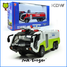 Mr.Froger KDW Fire Truck Toys Diecast Model Scale 1:50 Cars Electronic Car For Children Construction Vehicles Airfield Water Kid