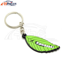 High Quality motorcycle green 3D soft rubber motorcycle key ring keychain For KAWASAKI ALL MONDEL