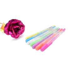 1Pc Flower Gel Pens Office Stationary Pen Photo Album Canetas Pens Pastel Gouache Ink Gel Pen(China)