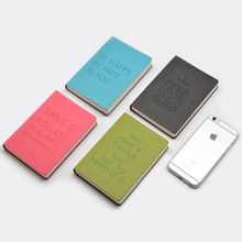 Fine leather portable person organizer notebooks stationery,cute office school To Do Pad planner note pad A6 4 colors
