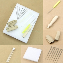 1set Needle Felting Starter Kit Wool Felt Tools Mat + Needle + Accessories Craft#T025#