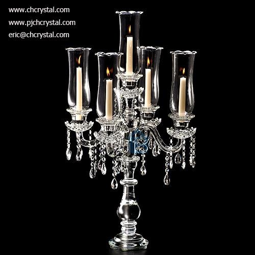 cc009-1crystal candelabra foe wedding decorations