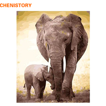 CHENISTORY DIY Digital Oil Painting By Numbers Kits Coloring Painting By Numbers Unique Gift For Home Decoration Elephant 40x50(China)